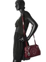 Shoulder Bag Vernice Lucida Patent Armani jeans Violet vernice lucida 529C-55-vue-porte