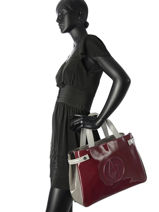Shopping Bag Vernice Lucida Patent Armani jeans Red vernice lucida C522F-U2-vue-porte