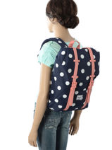Backpack Herschel Brown youth 10248-vue-porte