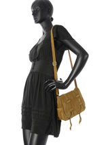 Sac Bandoulière Vintage Mila louise Jaune vintage 3017V-vue-porte