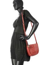 Crossbody Bag Legend Red tresse VENICE-vue-porte