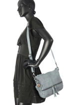 Crossbody Bag Legend Blue vegetal VIVARO-vue-porte