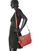 Crossbody Bag Legend Red tresse VENEZIA-vue-porte