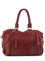 Shoulder Bag Milano Red velvet stampa V3160615