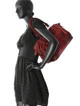 Shoulder Bag Milano Red velvet stampa V3160615-vue-porte