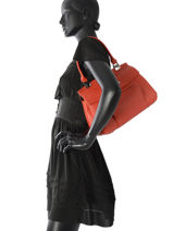 Longchamp Sac porté main Rouge-vue-porte