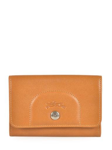 Longchamp Le pliage cuir Coin purse Beige