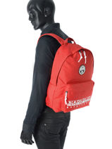 Backpack 1 Compartment Napapijri Red geographic NOYGX8-vue-porte