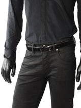 Belt Reversible Adjustable Azzaro Black belts Z1321379-vue-porte