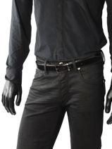 Belt Reversible Adjustable Azzaro Black belts Z1391376-vue-porte