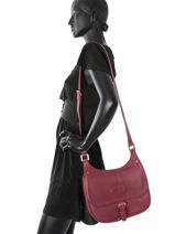 Longchamp Mystery Messenger bag Red-vue-porte