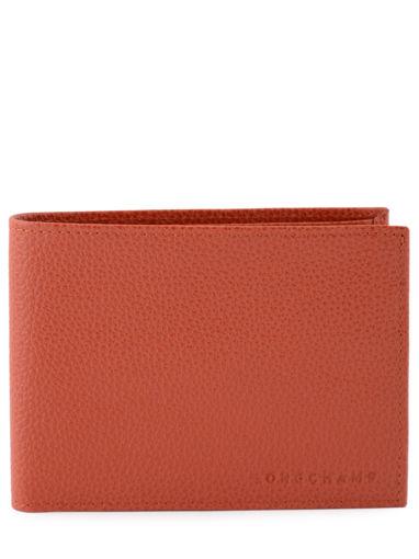 Longchamp Le foulonné Bill case / card case Red