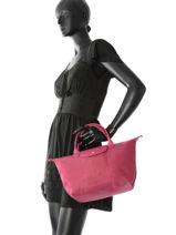 Longchamp Le pliage neo Sac porté main Rose-vue-porte