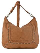 Shoulder Bag Studs Leather Basilic pepper Brown studs BSTU02