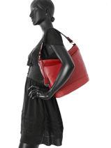 Hobo Bag Confort Leather Hexagona Red confort 464994-vue-porte