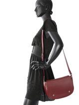 Longchamp Besace Rouge-vue-porte