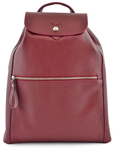 Longchamp Le foulonné Backpack Red