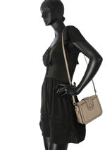 Crossbody Bag Page Leather Coach Gray page 12588-vue-porte