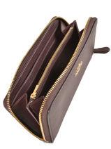 Wallet Leather Coach Red wallet 58059-vue-porte