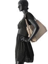 Shopper Edie Leather Coach Gray edie 12034-vue-porte