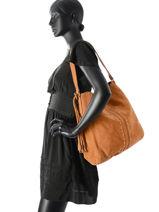Hobo Bag Japille Leather Pieces Brown japille 17083304-vue-porte
