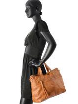 Top Handle Nara Leather Pieces Brown nara 17084131-vue-porte