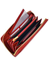 Continental Wallet Leather Yves renard Red foulonne 29784-vue-porte