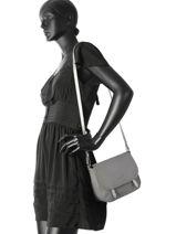Crossbody Bag Soft Vintage Clara Leather Lancaster Gray soft vintage clara 578-47-vue-porte
