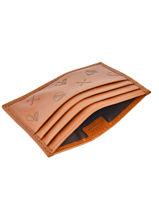 Porte-cartes Cuir Polo ralph lauren Marron university 5663117-vue-porte