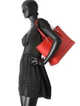 Shoulder Bag A4 Tommy hilfiger Red honey AW04547-vue-porte