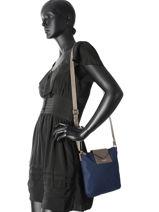 Shoulder Bag Kba Lancaster Blue kba 516-10-vue-porte