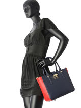 Sac Porte Main Th Heritage Tote Tommy hilfiger Bleu th heritage tote AW04364-vue-porte