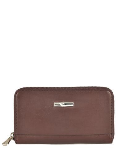 Longchamp Roseau héritage Wallet Brown