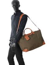 Longchamp Boxford Sac de voyage Bleu-vue-porte