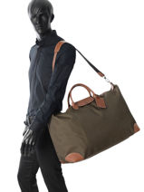 Longchamp Boxford Travel bag Brown-vue-porte