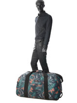 Travel Bag With Wheels Authentic Luggage Eastpak Black authentic luggage K072-vue-porte