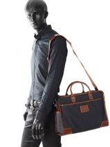 Longchamp S@fari sur Seine Briefcase Blue-vue-porte