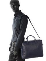 Longchamp Parisis Briefcase Blue-vue-porte