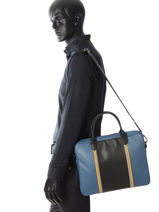 Longchamp Serviette Bleu-vue-porte