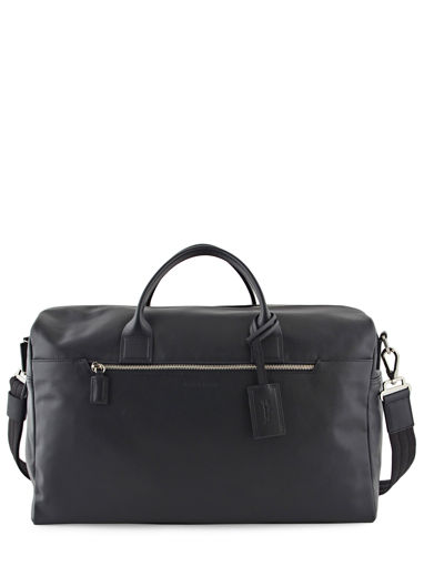 Longchamp Baxi cuir Travel bag Black