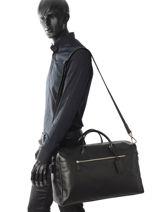 Longchamp Baxi cuir Travel bag Black-vue-porte