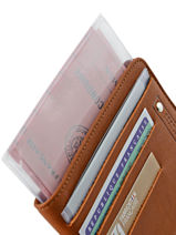 Wallet Leather Foures Brown 9124-vue-porte