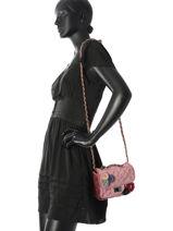 Crossbody Bag Velours Miniprix Pink velours 451-vue-porte