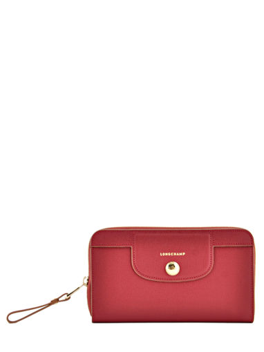 Longchamp Le pliage héritage Wallet Red
