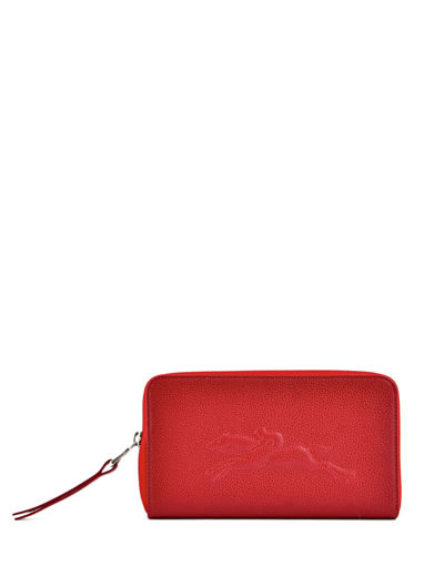 Longchamp Le foulonné Wallet Red