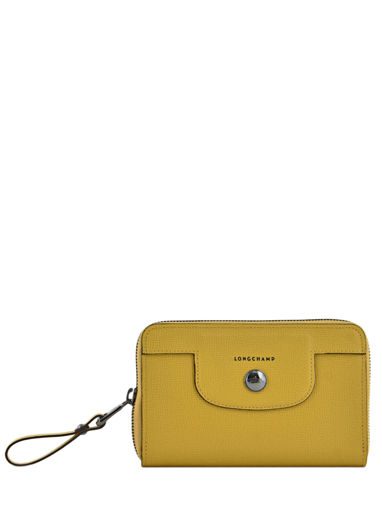 Longchamp Wallet Yellow