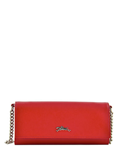 Longchamp Honoré 404 Wallet Red