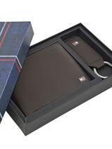 Wallet Leather Tommy hilfiger Brown harry AM01184-vue-porte