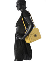 Longchamp Le pliage héritage Besace Jaune-vue-porte