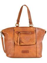 Shoulder Bag A4 Raphael Fuchsia Brown raphael F9737-2